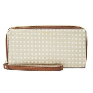NWT polka dot wallet RELIC by FOSSIL